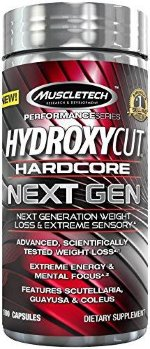 MuscleTech HYDROXYCUT HARDCORE NEXT GEN, 100 капс, Жиросжигатели