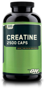Optimum Nutrition Creatine 2500 Caps, 300 капс, Моногидрат креатина