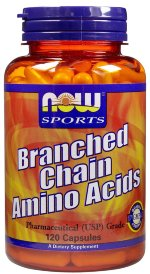 NOW Branched Chain Amino Acids, 120 капс, Аминокислоты BCAA