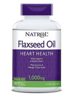 Natrol Omega-3 Flaxseed Oil 1000 mg, 200 таб, Омега жиры