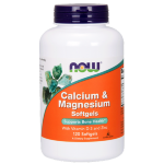 NOW Calcium & Magnesium Softgels With Vitamin D and Zinc, 120 капс, Отдельные минералы
