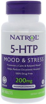 Natrol 5-HTP 200 мг Time Release, 30 таб, 5-HTP