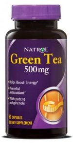 Natrol Green Tea 500 мг, 60 капс, Антиоксиданты