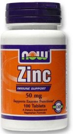 NOW Zinc Gluconate 50 (100 таб.)