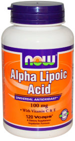 NOW Alpha Lipoic Acid, 120 капс, Антиоксиданты