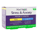 Natrol Stress & Anxiety Day & Nite, 60 таб, Антистресс