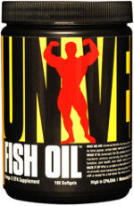 Universal Nutrition Fish Oil, 100 капс, Омега жиры