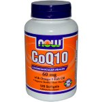 NOW CoQ10 Omega-3 Fish Oil, 60 капс, Коэнзим Q10