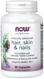 NOW CLINICAL HAIR, SKIN & NAILS, 90 капс, Препараты для волос, ногтей и кожи