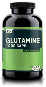 Optimum Nutrition Glutamine Caps 1000, 240 капс, Аминокислота Глютамин