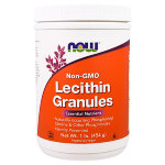 NOW Lecithin Granules Non-GMO, 453 г, Препараты для поддержки печени