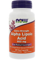 NOW Alpha Lipoic Acid 600 мг, 60 капс, ALA
