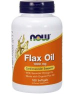 NOW Organic Flax Oil Cardiovascular Support 1000 мг softgels, 100 капс, Омега жиры