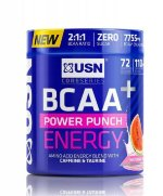 USN BCAA Power Punch ENERGY, 400 г, Аминокислоты BCAA