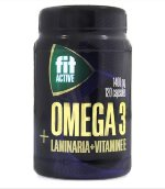 Fit Active OMEGA 3 + LAMINARIA + VITAMINE E 1400 мг, 120 капс, Омега жиры