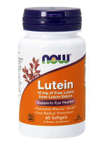NOW LUTEIN 10 мг FROM LUTEIN ESTERS, 60 капс, Препараты для улучшения зрения