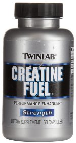 Twinlab Creatine Fuel, 300 капс, Моногидрат креатина
