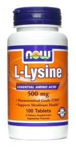 NOW L-Lysine 500 mg (100 табл.)