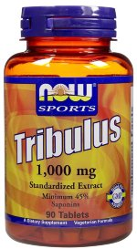NOW Tribulus 1000 mg, 90 таб, Трибулус