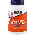 NOW Quercetin with Bromelain, 120 капс, Антиоксиданты