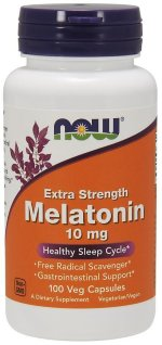 NOW Melatonin 10 mg, 100 капс, Мелатонин