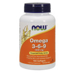 NOW Omega-3-6-9 1000 мг, 100 капс, Омега жиры