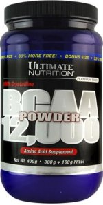 Ultimate Nutrition BCAA Powder 12000, 400 г, Аминокислоты BCAA