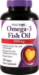 Natrol Omega 3 Fish Oil 1000 мг, 150 капс, Омега жиры