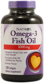 Natrol Omega 3 Fish Oil 1000 мг, 60 капс, Омега жиры